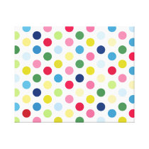 Rainbow polka dots canvas print