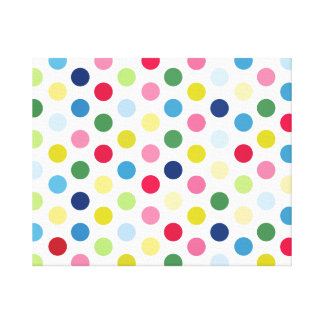 Rainbow polka dots canvas print