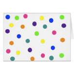 Rainbow Polka Dots Card
