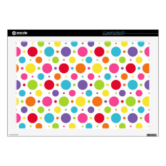 """Rainbow polka dots decal for 17"""" laptop"""