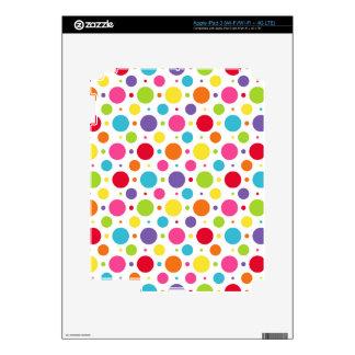 Rainbow polka dots decal for iPad 3