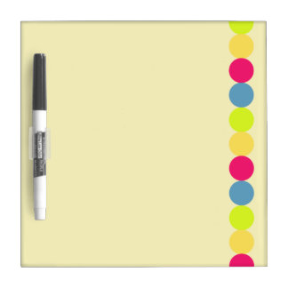 Rainbow polka dots dotted spots dry erase board