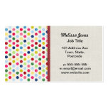 Rainbow polka dots Double-Sided standard business cards (Pack of 100)