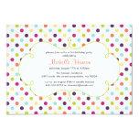 Rainbow Polka Dots Invitation