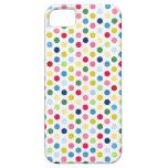Rainbow polka dots iPhone 5 cover