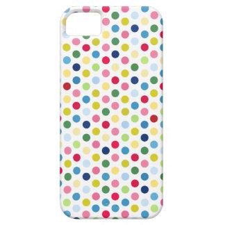 Rainbow polka dots iPhone SE/5/5s case
