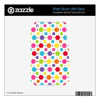 Rainbow polka dots iPod touch 4G skin