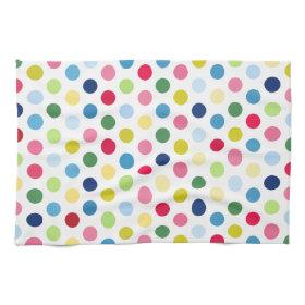Rainbow polka dots kitchen towels