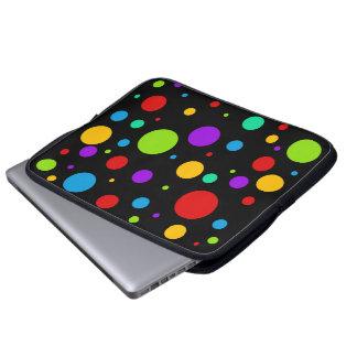 Rainbow Polka Dots Laptop Computer Sleeve