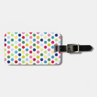 Rainbow polka dots tags for bags