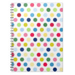 Rainbow polka dots note books