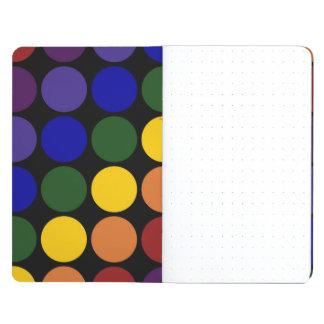 Rainbow Polka Dots on Black Journal