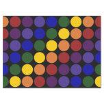 "Rainbow Polka Dots on Black Tissue Paper 17"" X 23"" Tissue Paper"