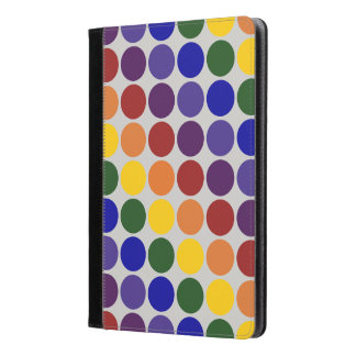 Rainbow Polka Dots on Grey