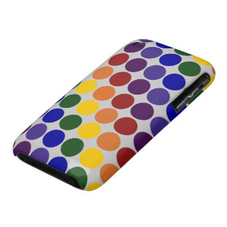 Rainbow Polka Dots on Grey iPhone 3 Case-Mate Case
