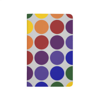Rainbow Polka Dots on Grey Journal