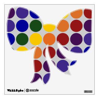 Rainbow Polka Dots on Grey Room Sticker