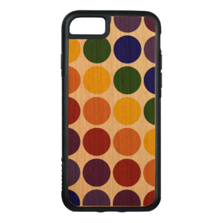 Rainbow Polka Dots on Transparent Background Carved iPhone 8/7 Case