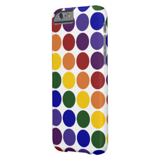 Rainbow Polka Dots on Transparent Background Barely There iPhone 6 Case