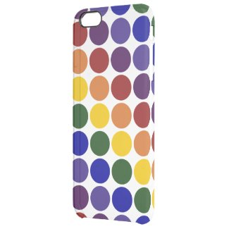 Rainbow Polka Dots on Transparent Background Uncommon Clearly™ Deflector iPhone 6 Plus Case