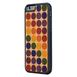 Rainbow Polka Dots on Transparent Background Carved® Cherry iPhone 6 Bumper Case