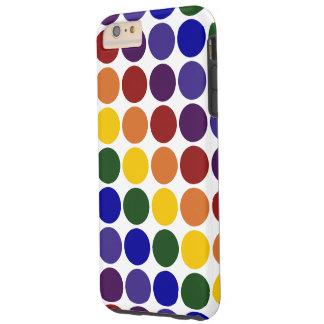 Rainbow Polka Dots on White iPhone 6 Plus Case