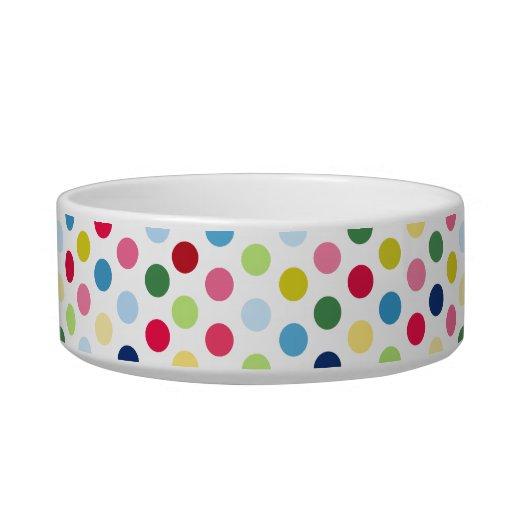 Rainbow polka dots pet water bowls