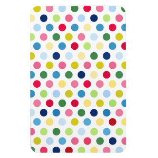 Rainbow polka dots magnets