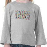 Rainbow polka dots shirts