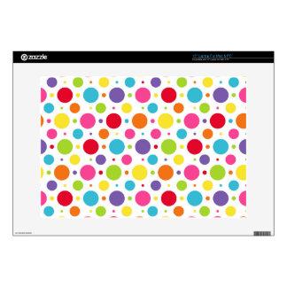 Rainbow polka dots skin for laptop