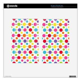 Rainbow polka dots skins for kindle fire