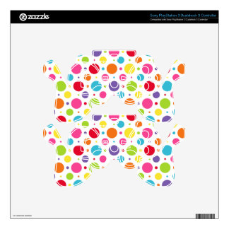 Rainbow polka dots skins for PS3 controllers