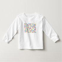 Rainbow polka dots toddler t-shirt