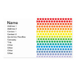 Rainbow Polka Dots White Double-Sided Standard Business Cards (Pack Of 100)