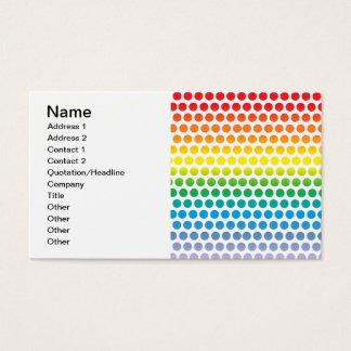 Rainbow Polka Dots White Business Card