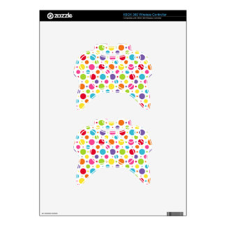 Rainbow polka dots xbox 360 controller decal
