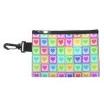 Rainbow PolkaDot Heart Pattern Accessories Bags