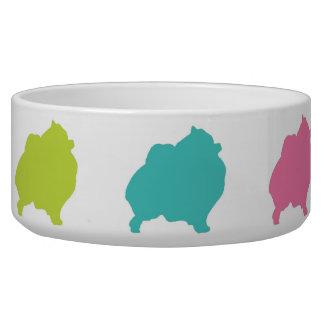 Rainbow Pomeranian bowl Pet Food Bowl