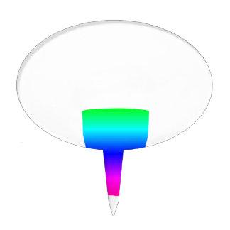 Rainbow Pony Glass Cake Topper