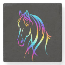Rainbow Pony Stone Coaster