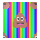 rainbow poop emoji bandana