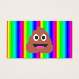 rainbow poop emoji business card