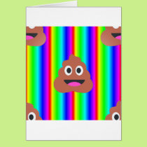 rainbow poop emoji card