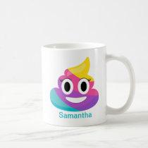 Rainbow Poop Emoji Mug