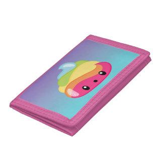 Rainbow Poop Emoji Tri-fold Wallet