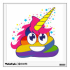 Rainbow Poop Unicorn Emoji Wall Decal