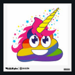 """Rainbow Poop Unicorn Emoji Wall Decal<br><div class=""""desc"""">What a fun way to decorate your walls... especially if you love rainbows,  poop,  unicorns and emojis! Lol! Omg!</div>"""