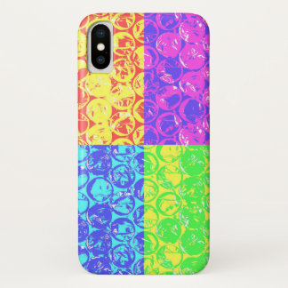 Rainbow pop art bubble wrap iPhone x case