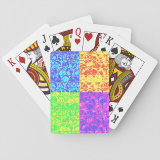 Rainbow pop art bubble wrap playing cards