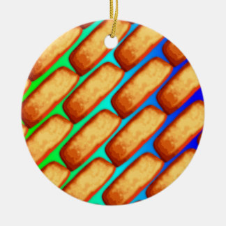 Rainbow Pop Art Cakes Ceramic Ornament